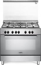 De Longhi DEMX96ED Cucina a Gas 5 Fuochi Forno Elettrico Grill 90x60 cm A Inox