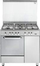 De Longhi Cucina a Gas 5 Fuochi Forno Elettrico Ventilato 90x60 cm DEMX 965 B