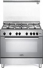De Longhi DGVX 96 Cucina a Gas 5 Fuochi Forno a Gas Ventilato Grill 90x60cm Inox