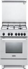 De Longhi DMW 64 ED Cucina a Gas 4 Fuochi Forno Elettrico Grill LxP 60x60 cm