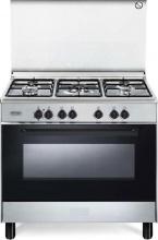 De Longhi FMX 96 Cucina a Gas 5 Fuochi con Forno Multifunzione 90x60 cm Inox