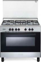 De Longhi FMX 96 ED Cucina a Gas con Forno ekettrico 5 Fuochi 90x60 cm Inox