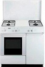 De Longhi HGW 80 GB N Cucina a gas 4 Fuochi Forno a Gas 86x50 cm Vano Portabombola
