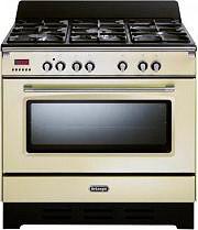 De Longhi Cucina a Gas 5 Fuochi Forno Elettrico Ventilato 90x60 cm MEM 965 BA