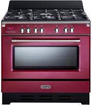 De Longhi Cucina a Gas 5 Fuochi Forno Elettrico Ventilato 90x60 cm - MEM 965 RA