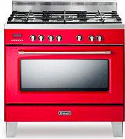 De Longhi Cucina a Gas 5 Fuochi Forno Elettrico Ventilato 90x60 cm - MEM 965 RCx