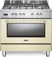 De Longhi PRO 96 MC ED Cucina a Gas con Forno Elettrico 5 Fuochi 90x60 cm Crema