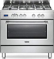 Cucina a Gas 5 Fuochi Forno Elettrico Multifunzione Ventilato con Grill  Larghezza x Profondità 90x60 cm con colore Inox - PRO 96 Mx Linea Pro