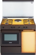 De Longhi SEK 8541 N ED Cucina a Gas 4 Fuochi + 1 Piastra Forno Elettrico Beige