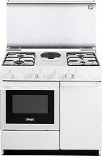 De Longhi SEW 8541 N Cucina a Gas 4 Fuochi Forno Elettrico Grill 86x50 cm Bianco