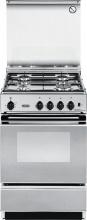 De Longhi SEX 554 NED Cucina a Gas 4 Fuochi Forno Elettrico Grill 50x50 cm Inox