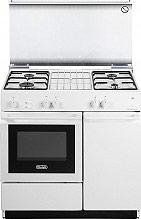 De Longhi SGGW 854 N Cucina a Gas 4 Fuochi Forno a Gas Grill 86x50 cm Bianco