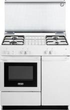 De Longhi SGGW 854 N ED Cucina a Gas 4 Fuochi Forno a Gas Grill 86x50 cm Bianco