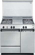 De Longhi SGGX854 N ED Cucina a Gas 4 Fuochi Forno a Gas 80x50 cm Inox SGGX 854 N ED