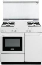 De Longhi SGW 854 N Cucina a Gas 4 Fuochi Forno a Gas 86x50 cm Coperchio Bianco