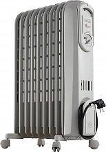 De Longhi V550920 Termosifone Elettrico Radiatore ad Olio Stufa 9 Elementi Vento