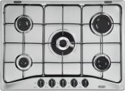 De Longhi Piano cottura 5 Fuochi incasso a gas Tripla Corona 70 cm Inox YAF57ASV