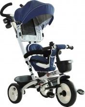DecHome 370061BU Triciclo Passeggino Maniglione Tetto Parapioggia Blu 370-061