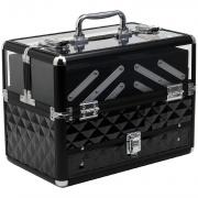 DecHome 501018BK Valigetta Make Up Porta Trucchi Professionale Telaio Alluminio