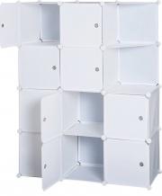 DecHome 831176 Armadio Guardaroba Modulare 10 Cubi Bianco 111x47x145 cm