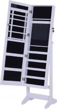 DecHome 831DD1 Armadio Portagioie A Specchio Con 20 Luci Led Bianco 40x37x146cm