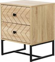 DecHome 831D55 Comodino per camera da letto in legno stile Natual Wood Color
