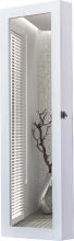 DecHome 83310DGT Specchiera Armadio Portagioielli Legno Mdf Bianco 37x9.5x112cm