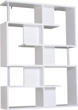 DecHome 833554GT Mobile A Scaffali Libreria 5 Livelli Legno Bianco