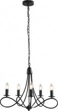 DecHome B31150V50 Lampadario 5 Candelieri Pieghevole Altezza Regolabile Acciaio