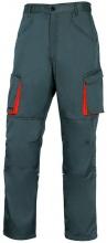 Deltaplus Pantalone Lavoro 8 tasche Tg. M Grigio  Arancione - Mach2 - M2PANGRTM
