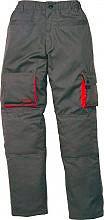 Deltaplus Pantalone Lavoro 8 tasche Tg. XL Grigio  Arancione - Mach2 M2PANGRXG