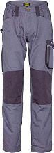 Diadora Pantalone Lavoro con Tasca laterale Portametro Tg. L Grigio 160303-75070