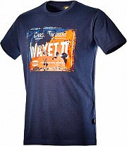 Diadora T-Shirt Maglietta a Maniche corte in Cotone Tg. XXL Col. Blu 171200 Grap