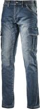 Diadora Pantalone da Lavoro Multitasche Jeans Taglia 50 172115 Cargo Denim