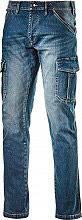 Diadora 172115-C6207 Pantalone da Lavoro Multitasche Jeans Taglia 46 172115 Cargo Denim