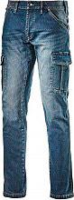Diadora 172115-C6207 Pantalone da Lavoro Multitasche Jeans Taglia 52 172115 Cargo Denim