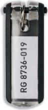 Durable 1957-01 Confezione n° 6 Portachiavi in Plastica con Etichetta KEY CLIP