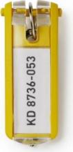 Durable 1957-04 Confezione n°6 Portachiavi Plastica Etichetta Giallo Key Clip