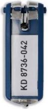 Durable 1957-07 Confezione n° 6 Portachiavi in Plastica con Etichetta KEY CLIP