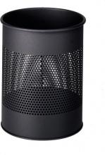 Durable 3310-01 Cestino Spazzatura 15 L Rotondo in Metallo colore Nero