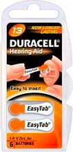 Duracell DA13 Batteria Speciale per Apparecchi acustici 1.4 v confezione 6 pz