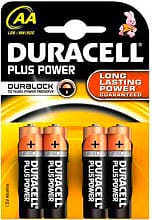 Duracell LR6MNI500 Confezione 4 Pile Batterie Stilo 1,5V AA - Plus Power