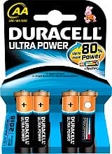 Duracell LR6MX1500 Pile Stilo AA 1,5V 4 batterie Tester Powercheck  Ultra Power