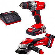 EINHELL 4257211 Kit Trapano+Smerigliatrice Batteria 18 V+Caricabatteria  TE-TK 18 LI KIT