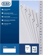 ELBA 400006682 Intercalari Alfabetico 20 A-Z Forati Univ.15x21