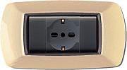 ELETTROCANALI ECL2984 A Placca Placchetta Elettrica Copri Interruttore 4P Avorio