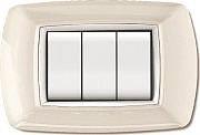 ELETTROCANALI ECL2984 WH Placca Placchetta Elettrica Copri Interruttore 4P Bianco