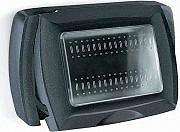 ELETTROCANALI ECL4611 N Placca Placchetta Elettrica Copri Interruttore esterno 3P