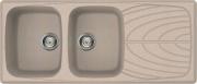 ELLECI Lavello Cucina Incasso 2 Vasche Gocciolatoio 116 cm Avena LGM50051