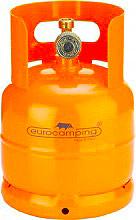 EUROCAMPING 51031001TP Bombola Gas Propano 1 Kg con Rubinetto e Maniglia Alta